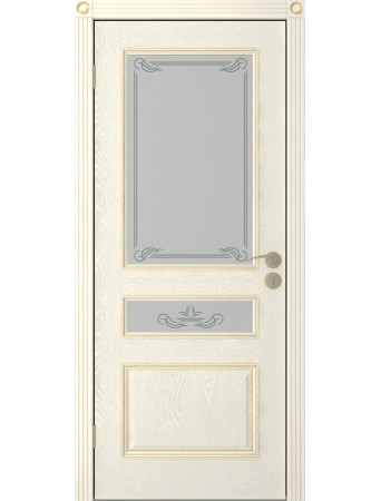 Дверь Трио ПО эмаль крем