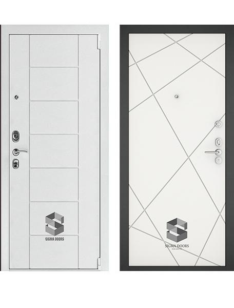 Дверь Sigma White Техно Белый софт