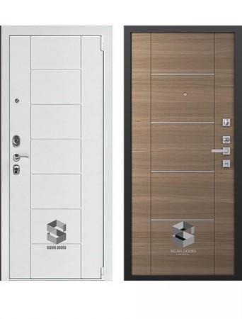 Дверь Sigma White Дуб тоскано молдинг