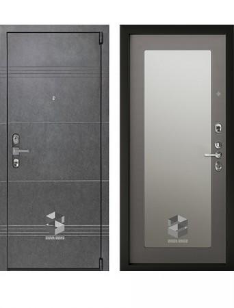 Дверь Sigma Mottura Grafit Зеркало софт грей