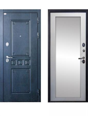 Дверь Выбор 12 Максимум Зеркало Белый ясень